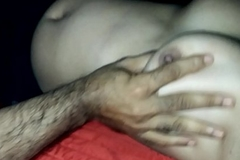 Indian honemoon boobs press grope