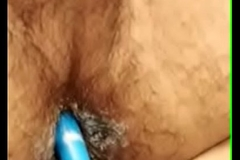 Indian old bean anal fucks dirty ass to dildo