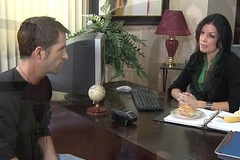 Stockinged India Summer fucking on the writing-desk