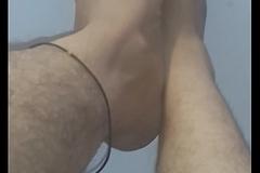 Indian feets hairy chap-fallen rubbing