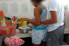 Indian Brother Sister fucking in Scullery