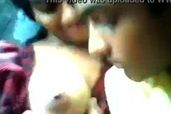 Indian teen girl boobs sucked off out of one's mind boyfriend