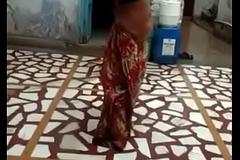 Desi Randi aunty's porn rain bath on the roof