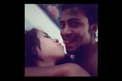 Assamese Hindu girl hot kiss and foreplay with bangladeshi muslim guy