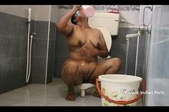 Big Boob Aunty In Shower