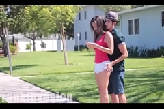 Kissing teen girls and gripping ass