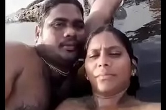 Desi Tweak coupled with GF private distraction on beach