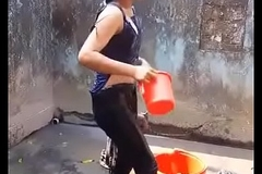 Desi Lovely Girl Outdoor Bath - Desishoot.fun